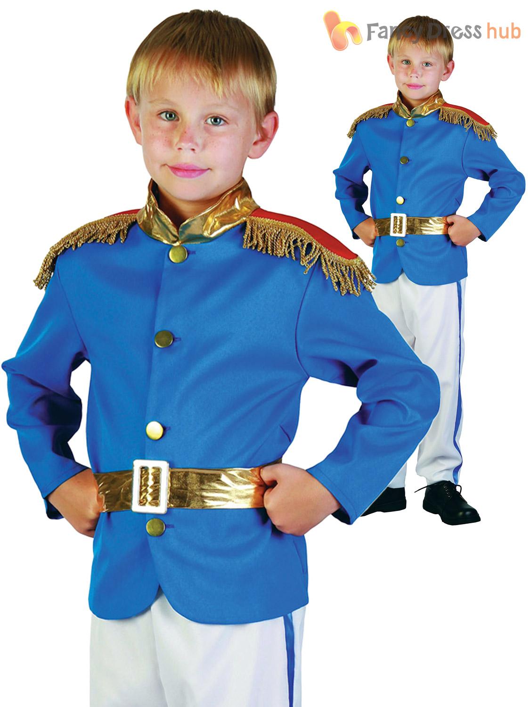 Age-4-12-Boys-Prince-Charming-Royal-Fairytale-  sc 1 st  eBay & Age 4-12 Boys Prince Charming Royal Fairytale Costume Kids Book Week ...