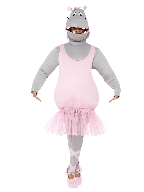 Adult Mens Ballerina Hippo Funny Fancy Dress Costume Stag Night Mascot