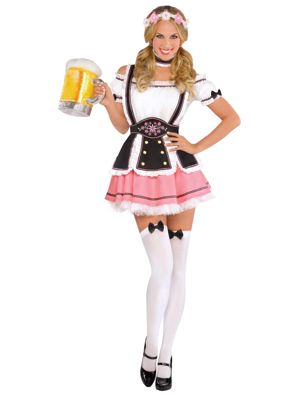Bavarian Beer Wench Adult Ladies Fancy Dress Costume Oktoberfest Beer Festival