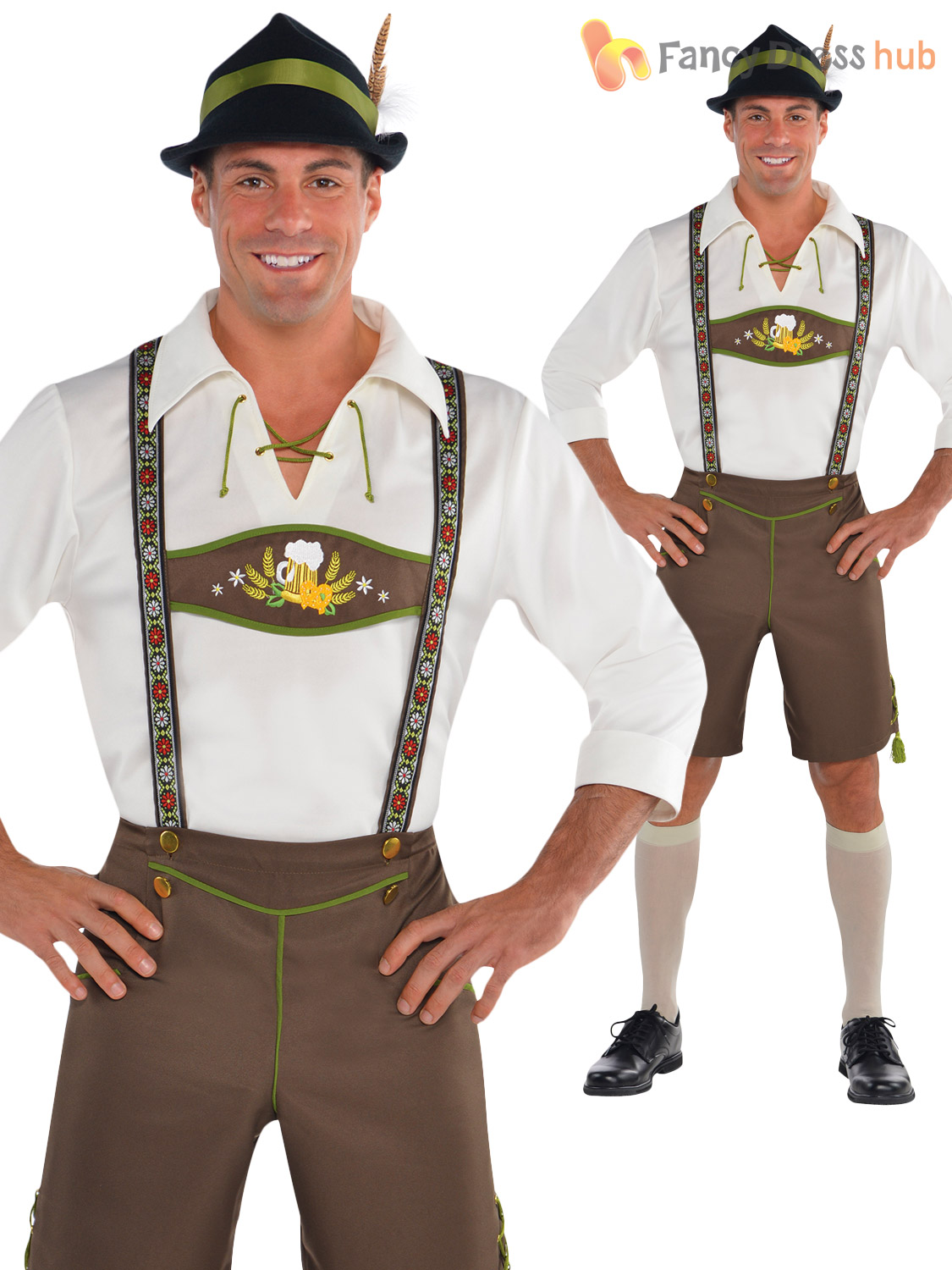 mens oktoberfest bavarian costumes german lederhosen fancy. Black Bedroom Furniture Sets. Home Design Ideas