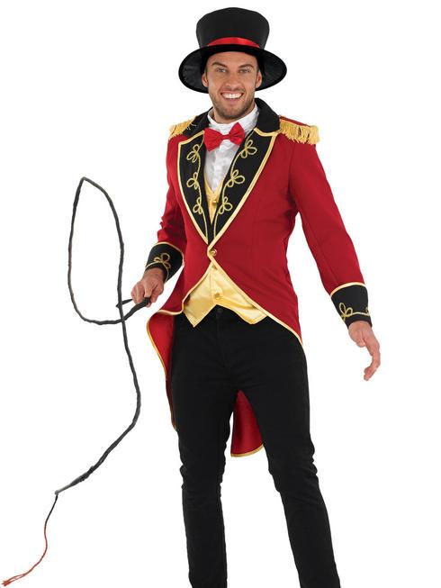 Men's Ringmaster Circus Costume & Whip