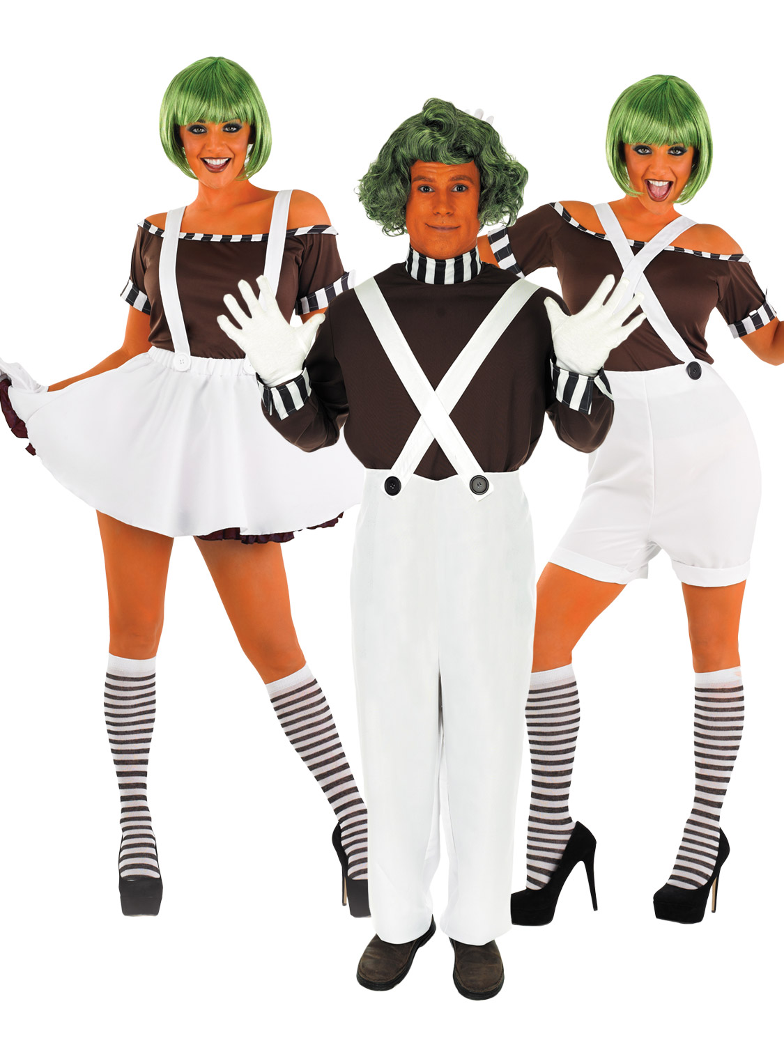 These deluxe Oompa Loompa costumes for men and women will make you look like you just walked out of Roald Dahlu0027s Charlie and the Chocolate Factory!  sc 1 st  eBay & Adults Mens Ladies Oompa Loompa Umpa Lumpa Roald Dahl Fancy Dress ...