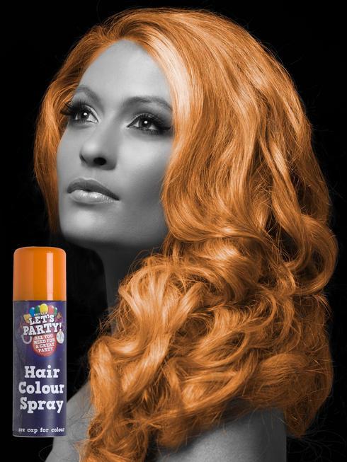 Orange Colour Hair Spray
