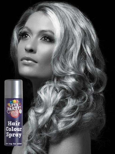 Silver Colour Hair Spray