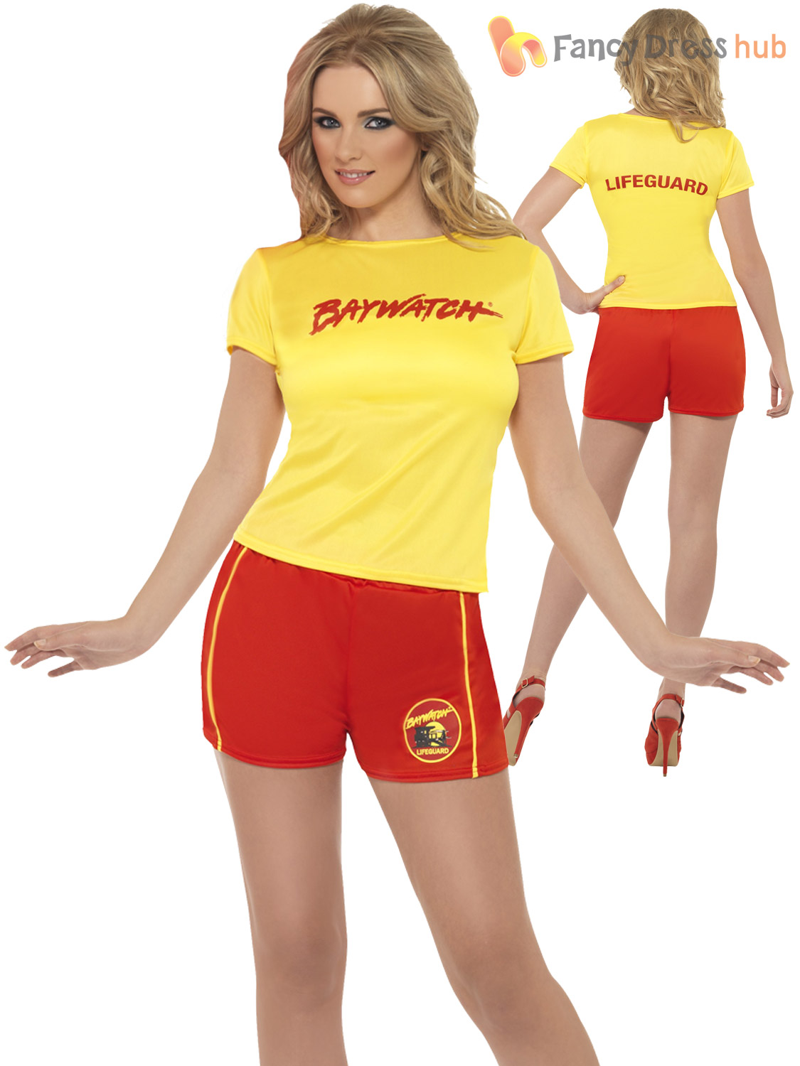 091dfef8bbe0 Ladies Baywatch Fancy Dress Beach Lifeguard Sexy Swimsuit Hen Party ...