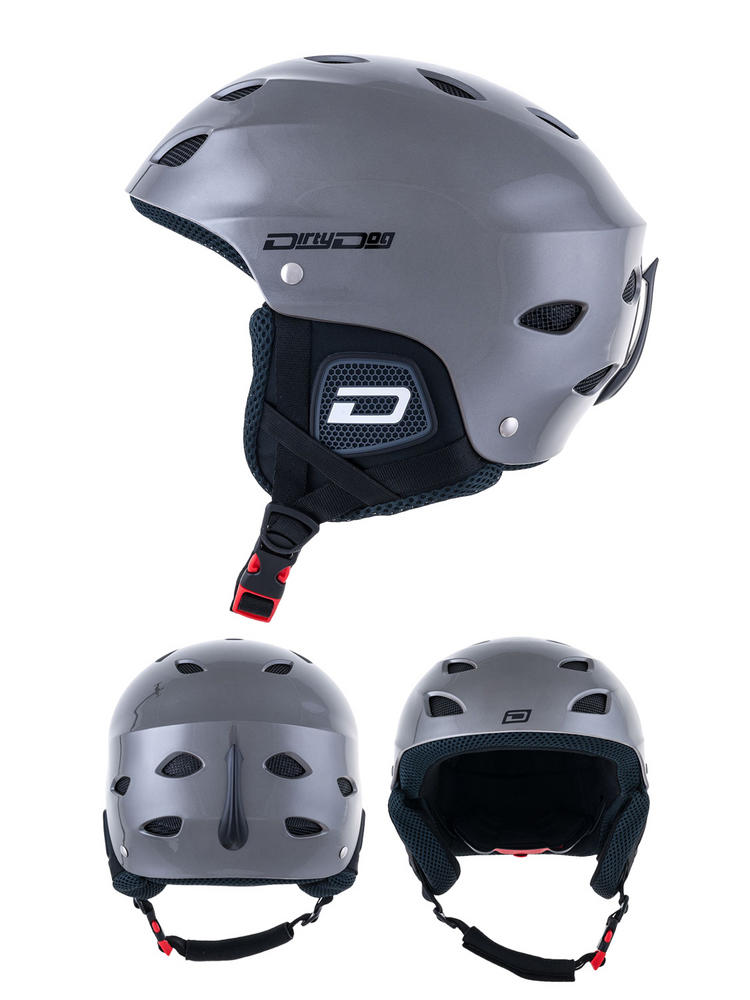 Dirty Dog Orbit Dark Silver Ski Helmet