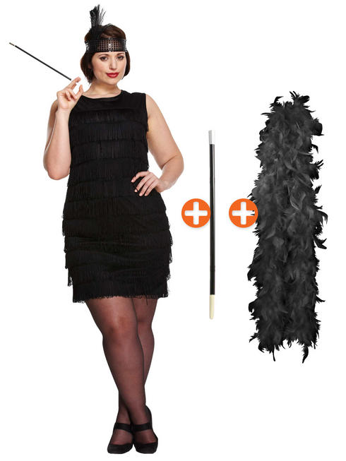 Ladies Plus Size 1920s Flapper Costume