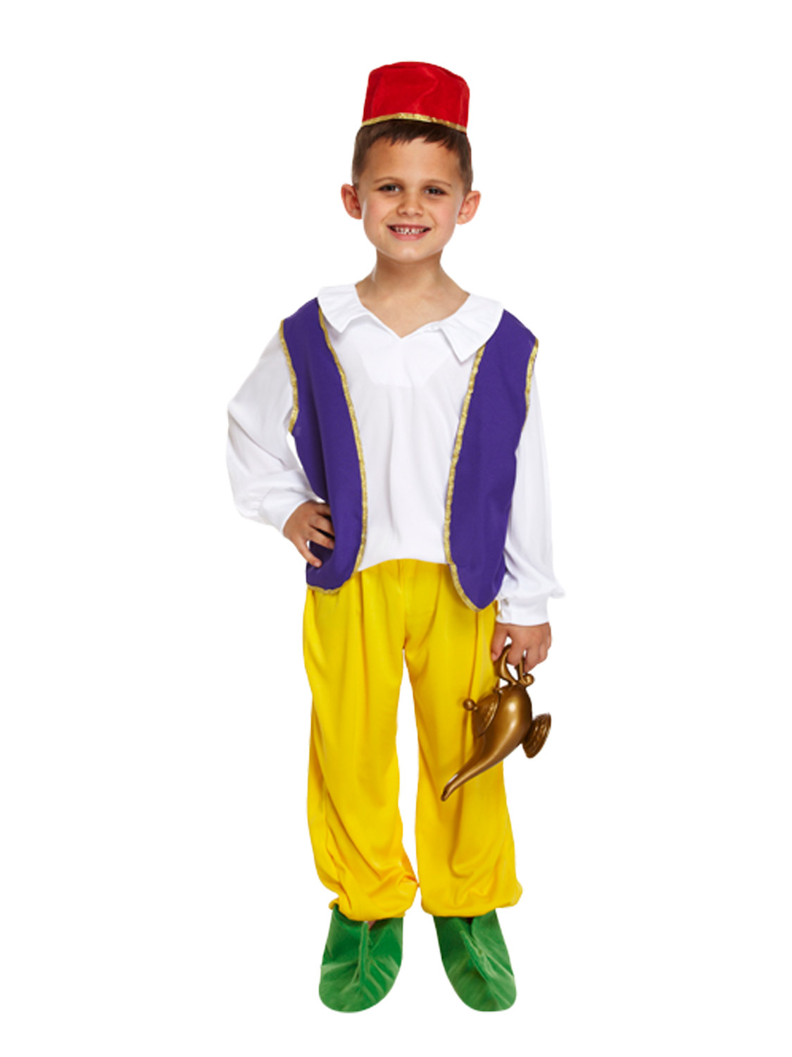 Boys Arabian Genie Costume  sc 1 st  Fancy Dress Hub & Boys Arabian Genie Costume | All Children | Fancy Dress Hub