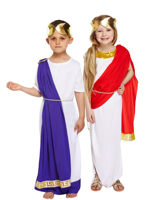 Girls Roman Toga Costume