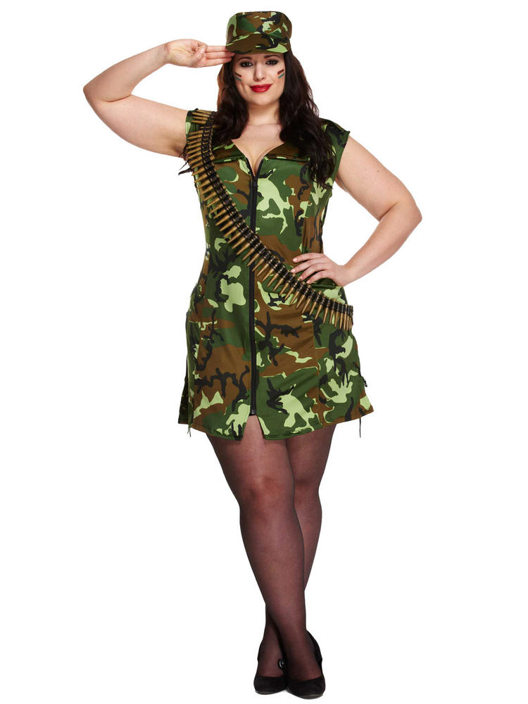 Ladies Plus Size Sexy Army Girl Costume All Ladies Fancy Dress Hub