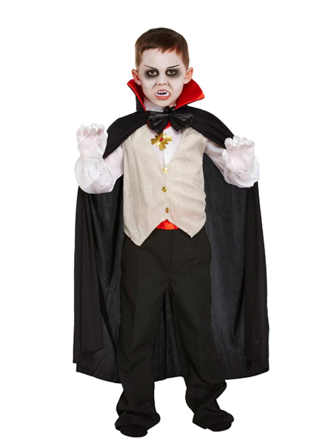 Boys Vampire Costume Kids Halloween Dracula Fancy Dress Outfit ...