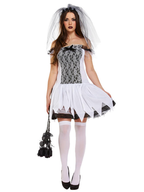 Ladies Sexy Teen Bride Costume