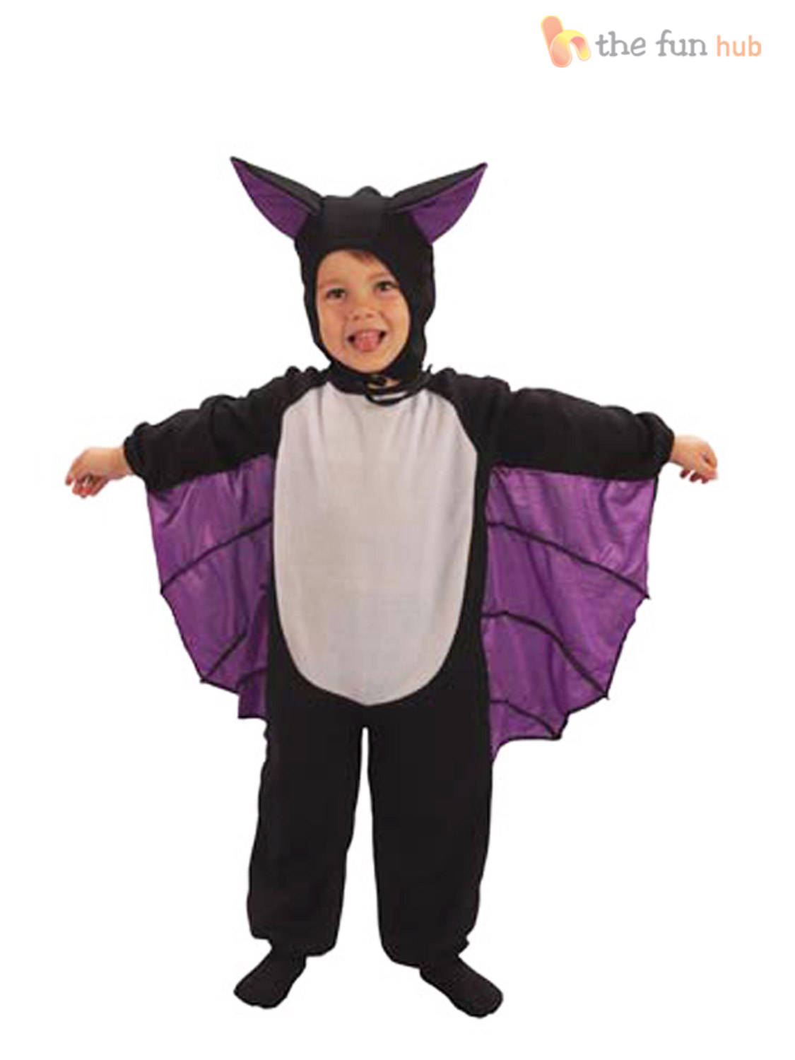 CUTE TODDLER/'S BAT FANCY DRESS//OUTFIT//COSTUME JUMPSUIT WITH WINGS /& HAT AGE 3