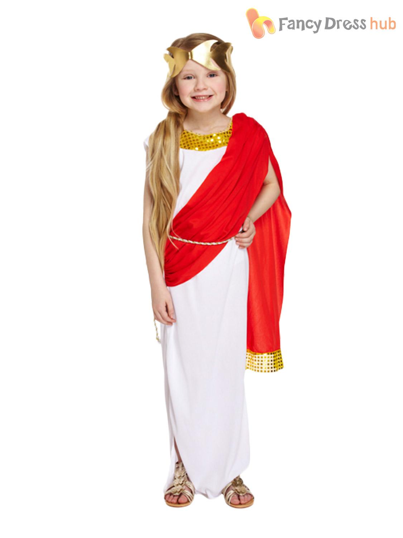 boys roman emperor greek god caesar toga fancy dress costume