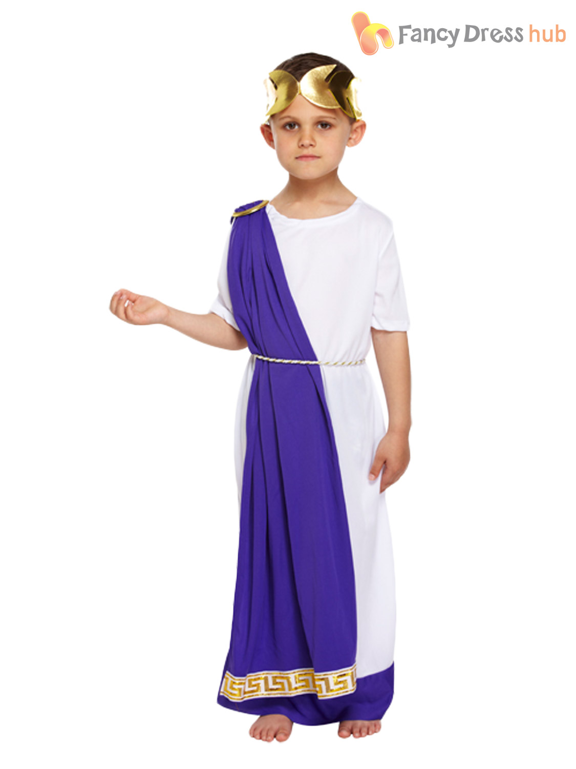 Kids-Girls-Boys-Greek-Roman-Toga-Fancy-Dress-  sc 1 st  eBay & Kids Girls Boys Greek Roman Toga Fancy Dress Costume Goddess Caesar ...