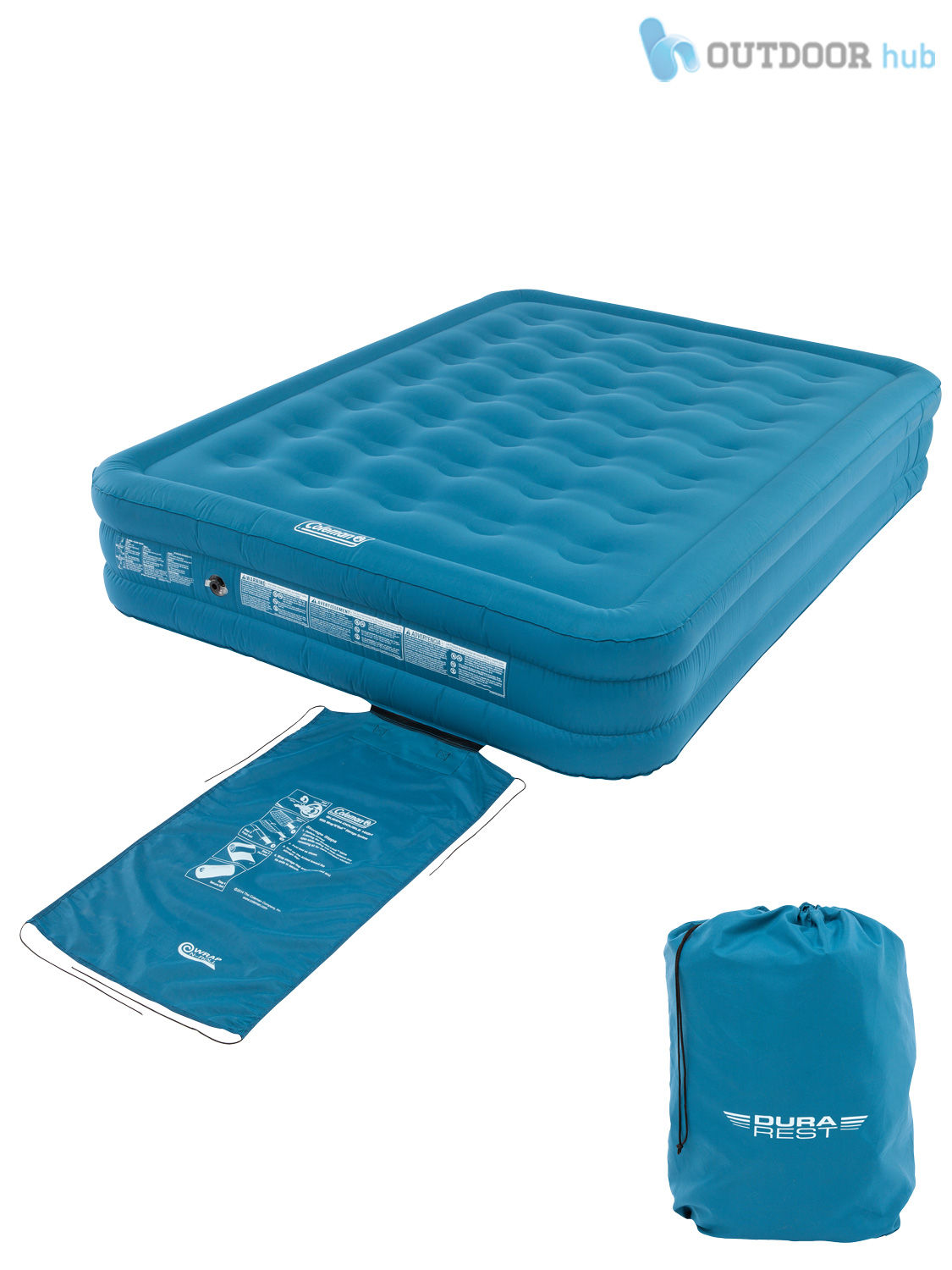 Coleman Durarest Airbed Single Double Raised Inflatable