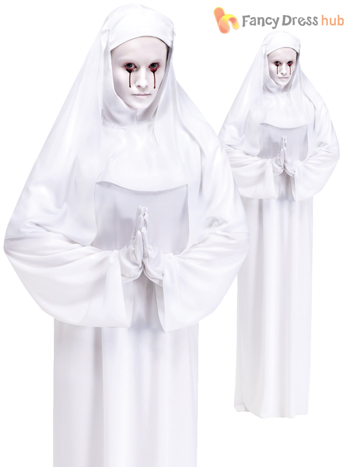 Ladies halloween white ghost mother superior scary mary nun fancy ladies halloween white ghost mother superior scary mary solutioingenieria Image collections