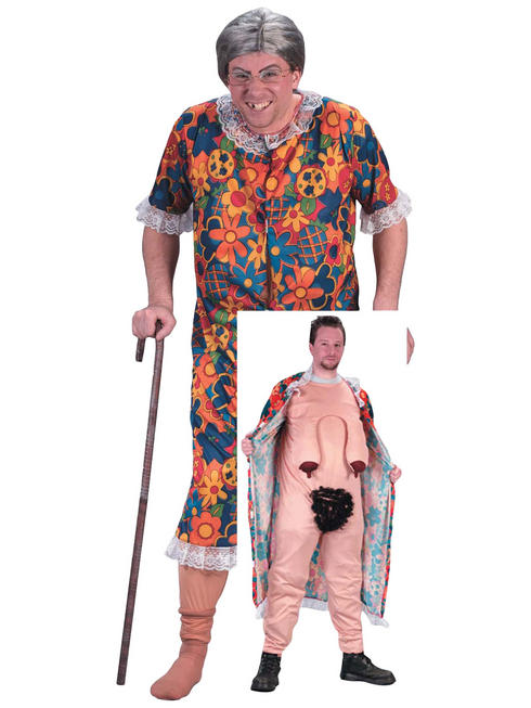 Men's Groping Granny Costume