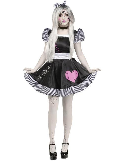 Ladies Broken Doll Costume