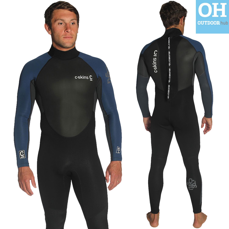 C-Skins-Mens-Element-3-2mm-Full-Length-Neoprene-Surf-Wetsuit-3mm-Summer-Steamer thumbnail 8
