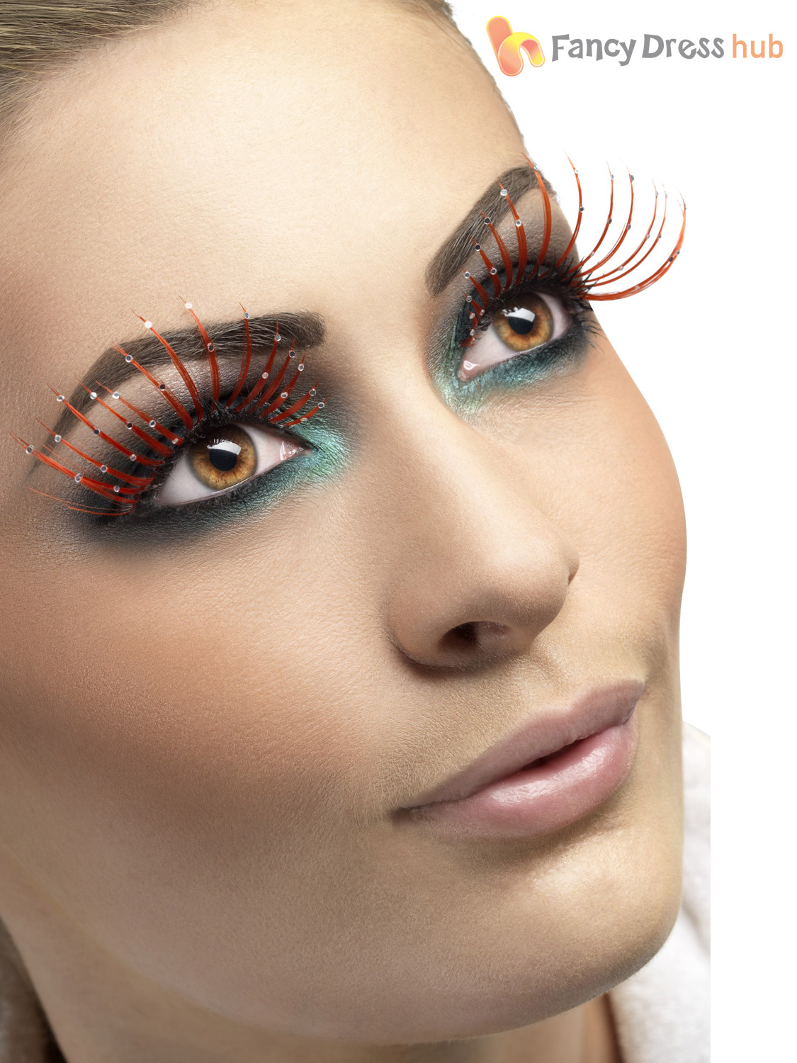 Fever False Fake Eyelashes Lashes Halloween Fancy Dress Costume