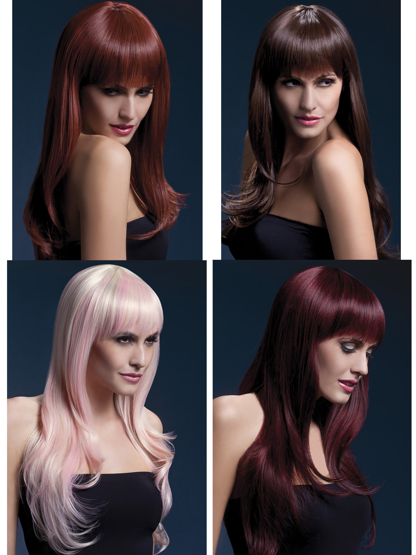 Ladies Womens Fever Khloe Long Wave Professional Quality Wig Fancy Dress Costume