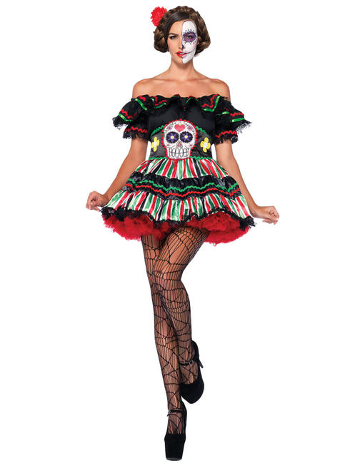 Ladies Mexican Day of the Dead Costume