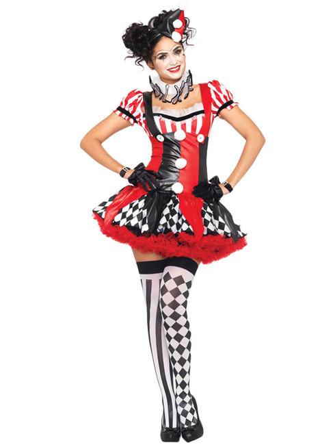Ladies Harlequen Clown Costume
