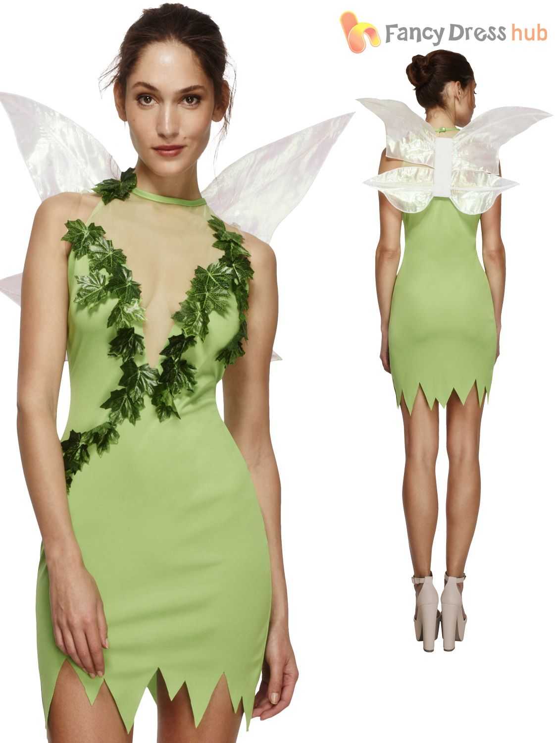 Adult Magical Fairy Tinker Size 8 18 Womens Ladies Fancy Dress Costume Fairytale Ebay