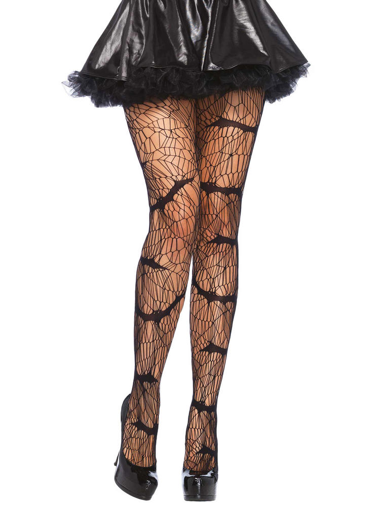 Ladies Sexy Animal Bat Hosiery Tights Halloween Fancy Dress Costume Accesory