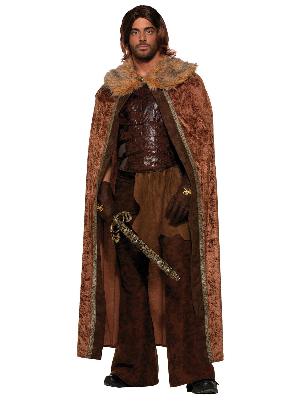mens game of thrones fur cloak cape jon snow medieval. Black Bedroom Furniture Sets. Home Design Ideas