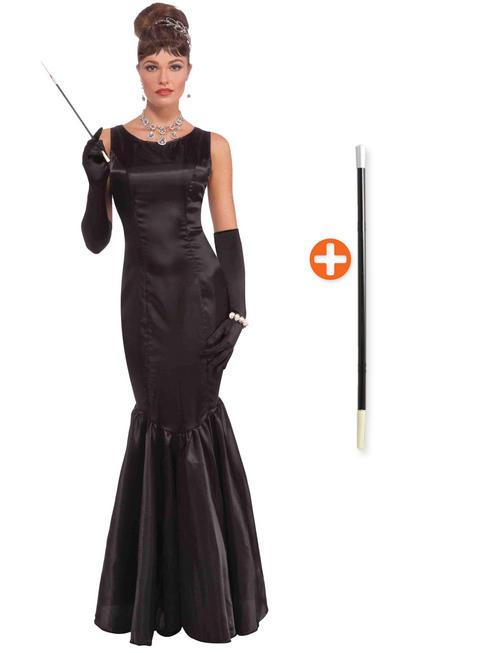 Ladies 1960s Audrey Hepburn Costume & Cigarette