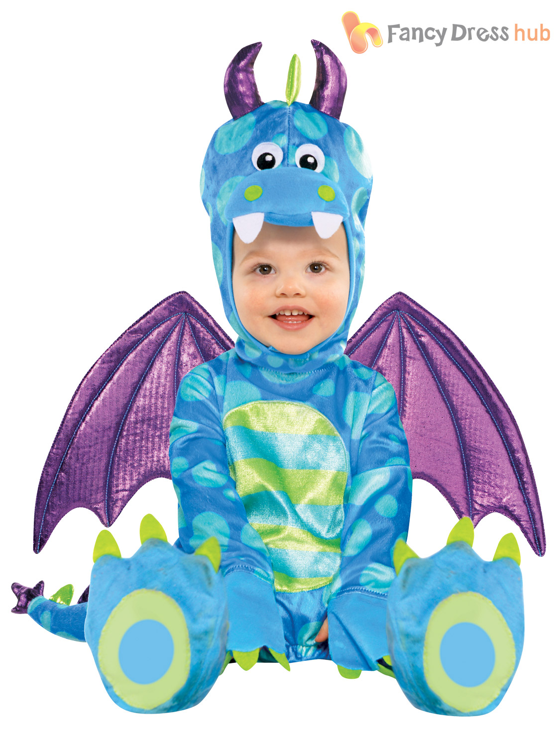 Baby-Toddler-Butterfly-Dragon-Fancy-Dress-Up-Costume-Book-Week-Day-Boys-Girls thumbnail 3
