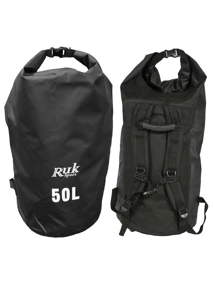 RUK 50L Dry Bag with Straps