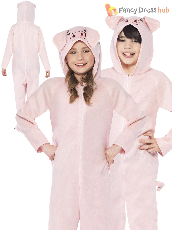 kids pig all in one fancy dress costume farm animal book week