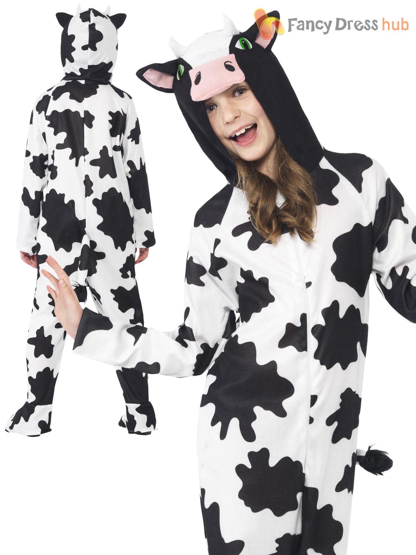 Farm Cow Kids Fancy Dress Animal Book Week Boys Girls Childrens Costume Outfit