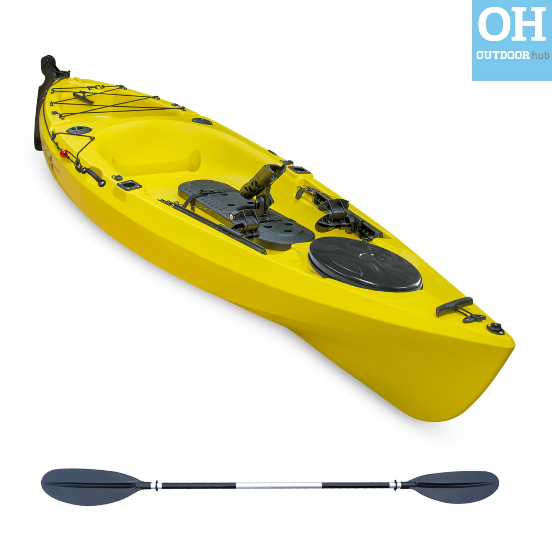 Sit On Top Kayak Single Fishing Ocean Canoe Rod Holders ...