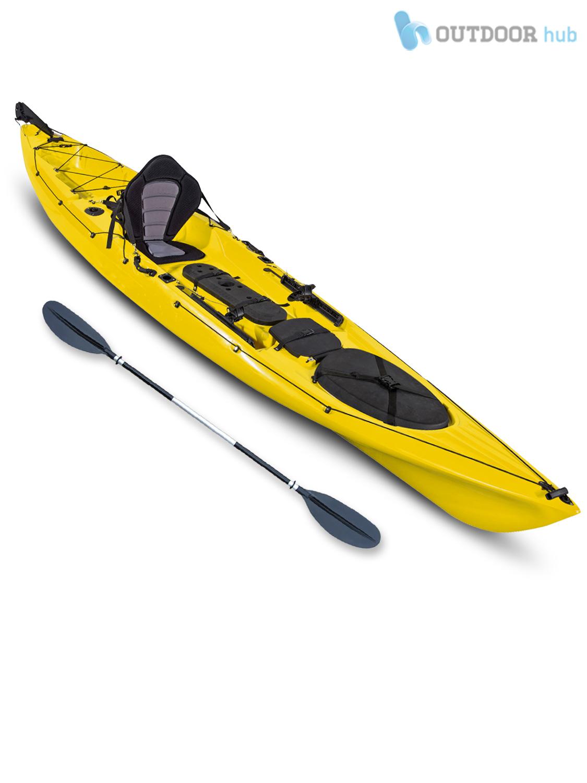 Top kayak single fishing angler canoe rod holder concept for Best kayaks for fishing