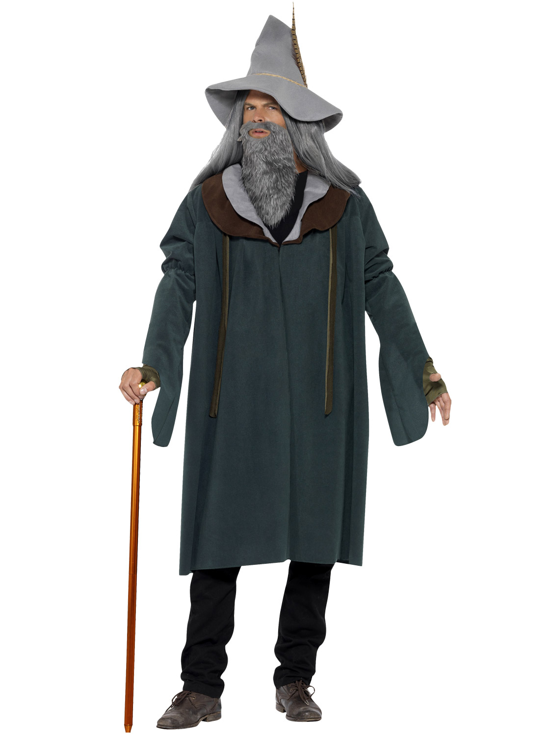 Mens adults gandalf wizard woodland magician merlin fancy dress transform yourself into gandalf the grey from the hobbit franchise with this wizard of the woods fancy dress costume solutioingenieria Images