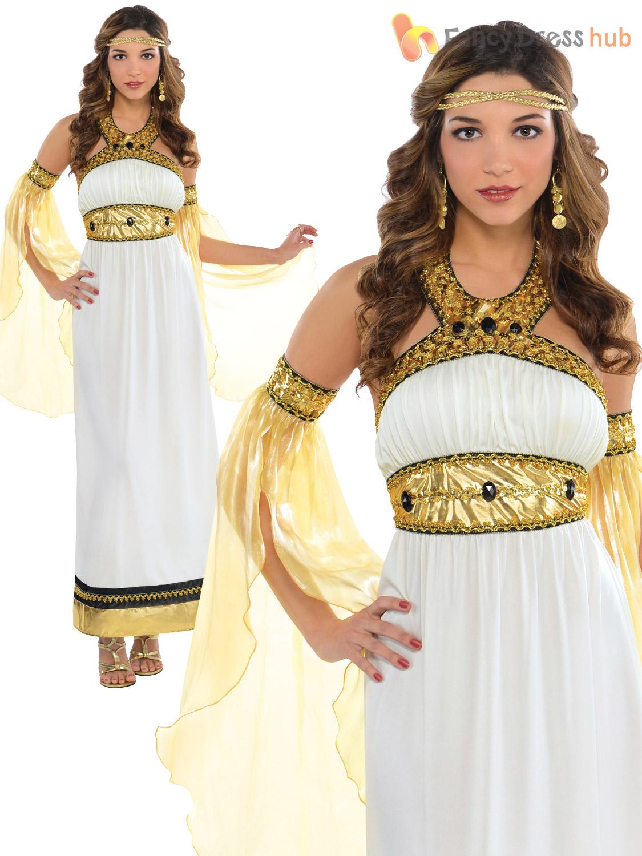 Ladies Greek Toga Roman Grecian Goddess Fancy Dress Womens Costume