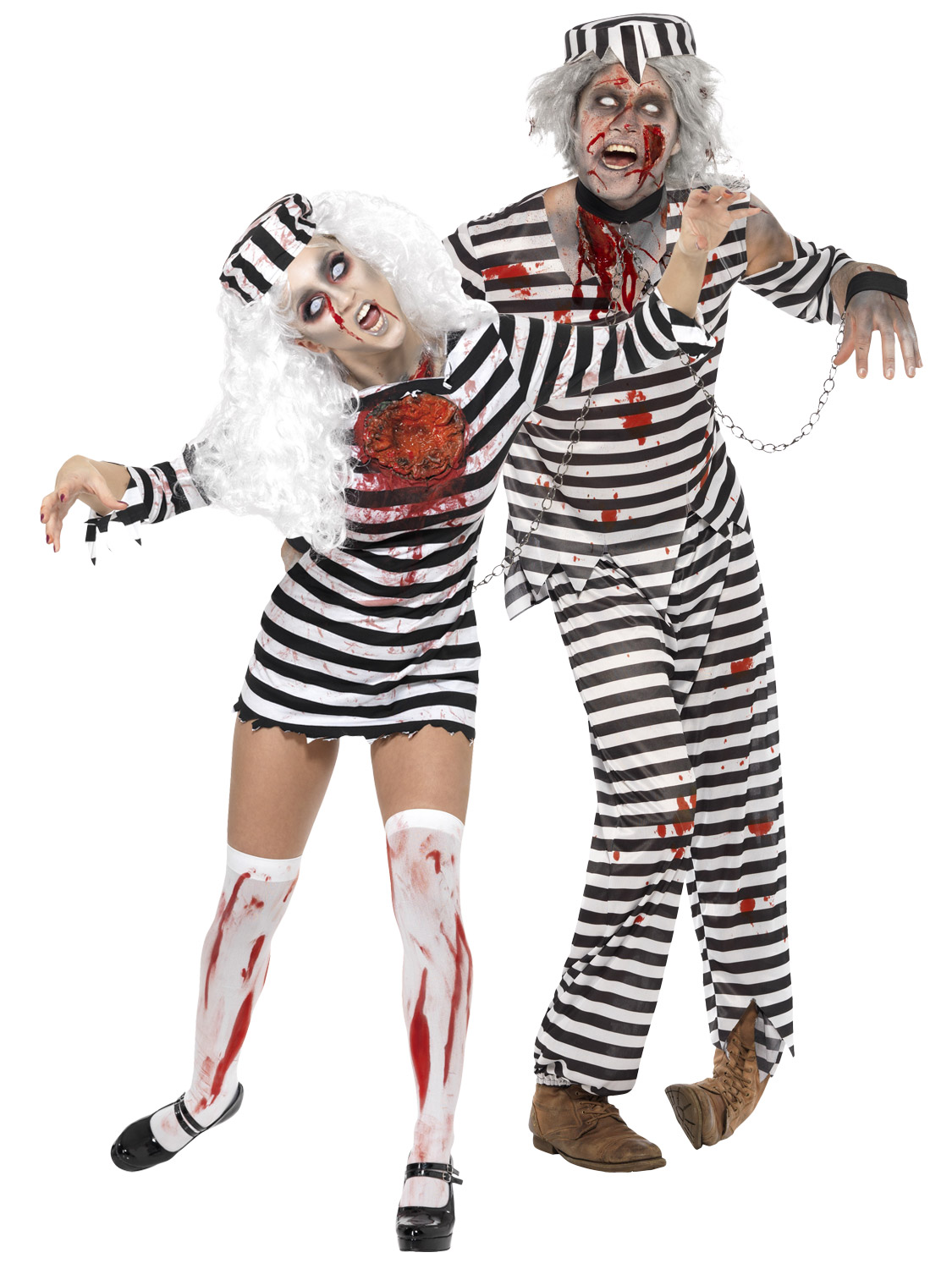 These gruesome costumes are ideal as a Halloween party outfit, or to wear to a zombie themed fancy dress party or event. Simply choose the size you require ...