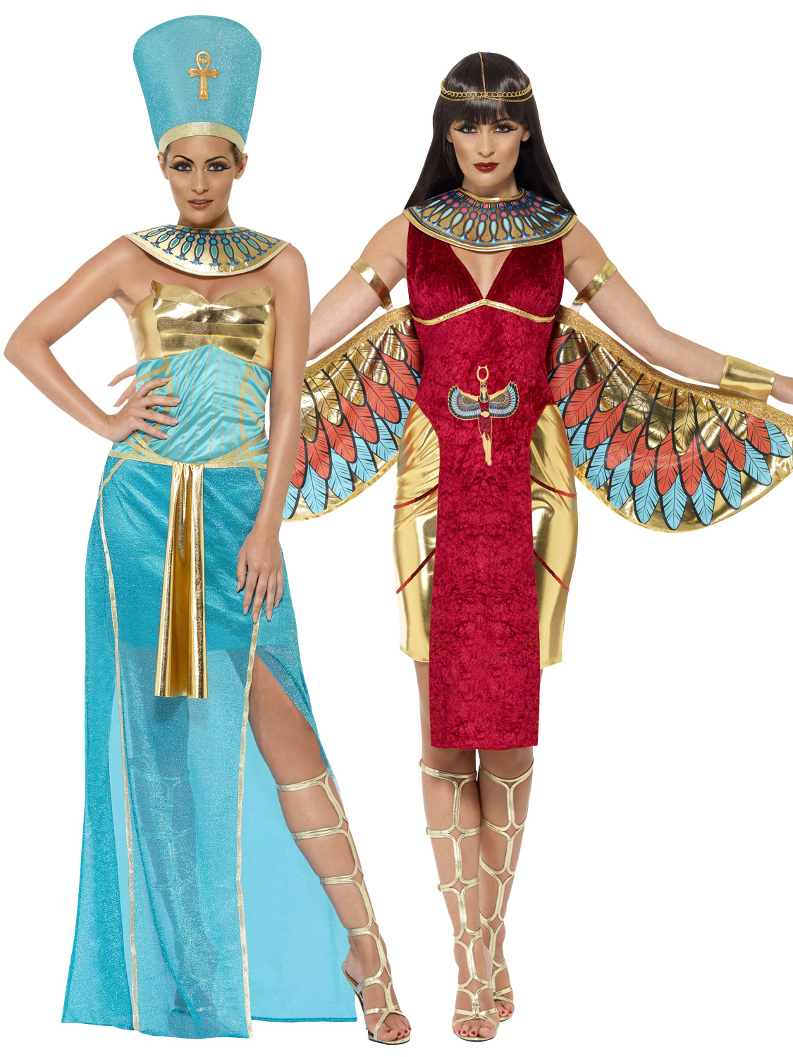 Image 2  sc 1 st  eBay & Ladies Egyptian Queen Goddess Isis Ancient Egypt Cleopatra Costume ...
