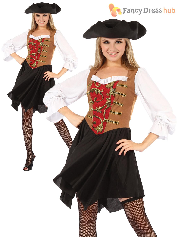 Mens ladies caribbean pirate captain costume fancy dress outfit mens ladies caribbean pirate captain costume fancy dress solutioingenieria Gallery