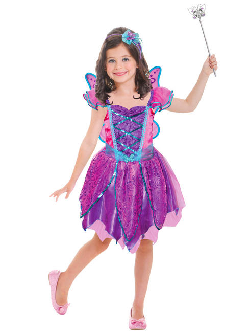 Girl's Hot Pink Fairy Costume