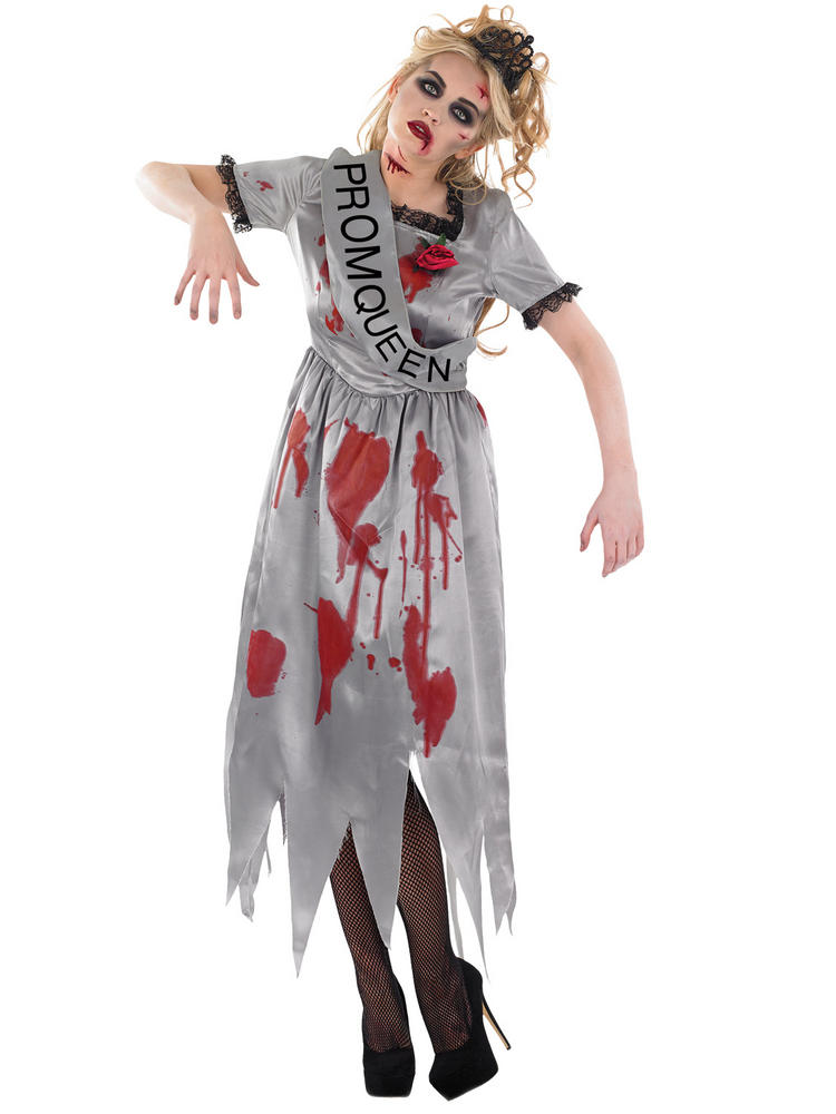 Ladies Zombie Prom Queen Costume