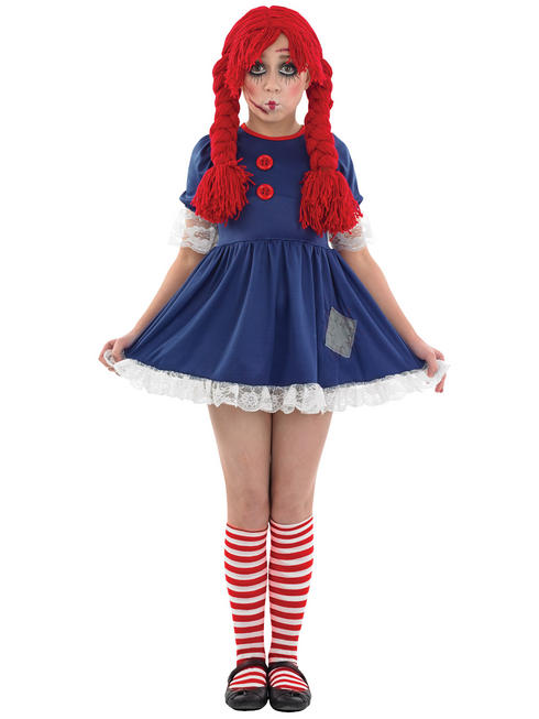 Girl's Scary Rag Doll Costume