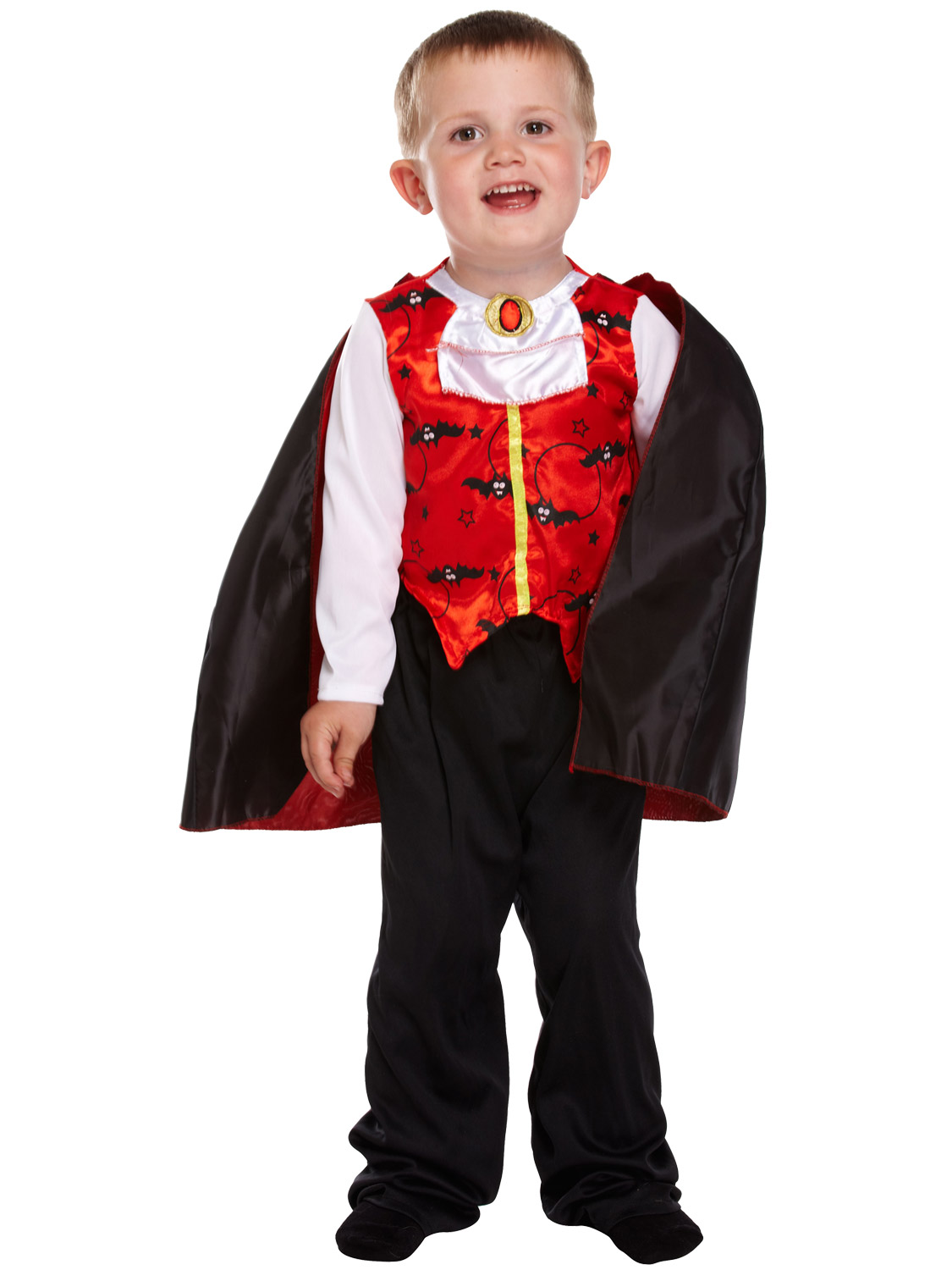 Details about Age 2 3 4 Toddler Halloween Costume Vampire Skeleton Fancy  Dress Kids Boys Girls