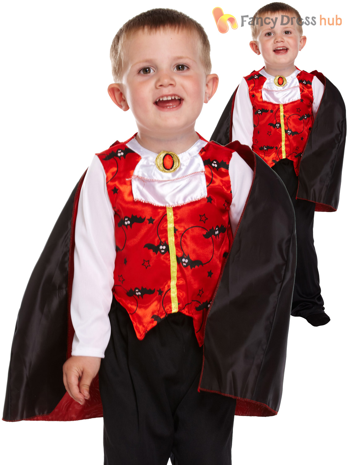 ... Picture 2 of 2  sc 1 st  eBay & Boys Little Vampire Dracula Toddler Halloween Fancy Dress Costume ...