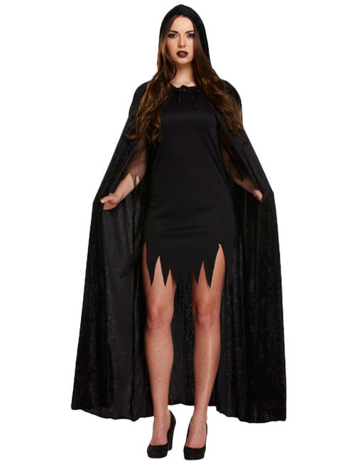 Adult's Black Velvet Cape