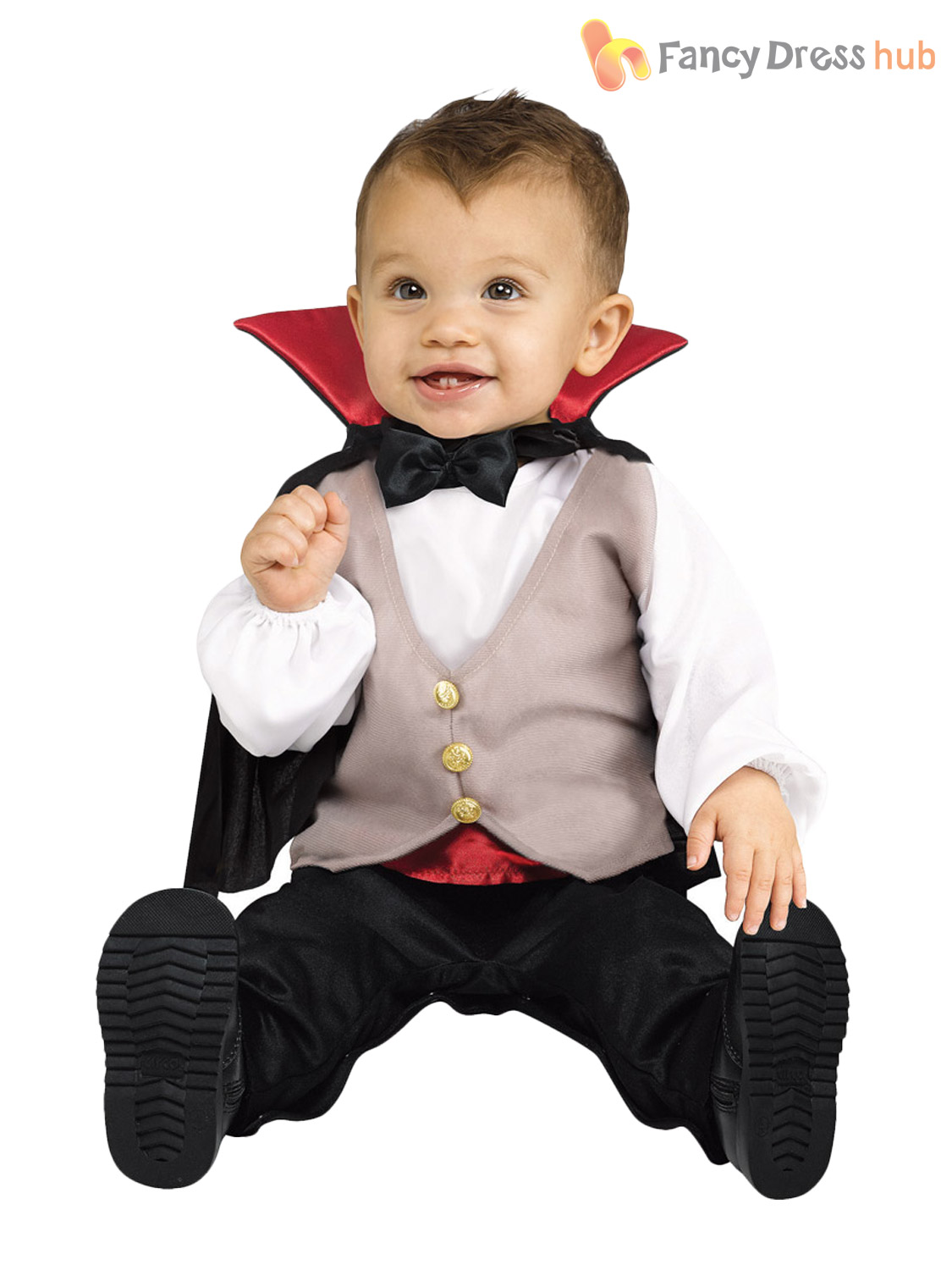 Baby-Toddler-Halloween-Fancy-Dress-V&ire-Babygro-Costume-  sc 1 st  eBay & Baby Toddler Halloween Fancy Dress Vampire Babygro Costume Boys Age ...